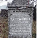 Alexander Zisha son of Eliezer GOLDBERGER  (Acrostic on right side of gravestone using the name 'Alexander' - needs further translation))