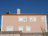 Pink house... on a blue sky