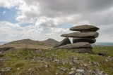CRW_01166-Edit.jpg Ring Cairn on Showery Tor with Rough Tor in distance - Bodmin Moor - © A Santillo 2004