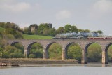 IMG_2940.jpg Steam train, River Forder, Trematon Castle & Forder Viaduct from Forder Lake - Saltash - © A Santillo