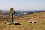 CRW_01112-Edit.jpg Crazywell Cross with Burrator Reservoir and lower slopes of Sheeps Tor - Dartmoor - © A Santillo 20034
