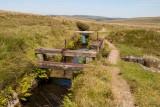 CRW_02284.jpg Drake's Leat (Devonport Leat) Leat, lock and run off gate - Princetown, Dartmoor - © A Santillo 2004