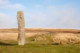 _MG_1539.jpg Drizzlecombe Stone Group menhir at head of stone row - Ditsworthy Warren, Dartmoor - © A Santillo 2003