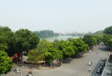 Hoan Kiem lake from Trang Tien Plaza