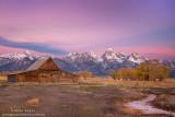 Mormon Barn Autumn sunrise