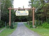 Un très beau parc, le long de la rivière St-François, à l'embouchure de la rivière Eaton