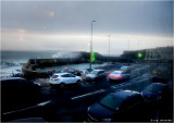 Cold and wet Portstewart seen from behind a nice, warm cup of tea