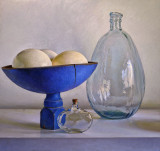 Ostrich Eggs and Glass 24 x 25 1/2