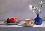 peaches & blue 16 x 23 1/2