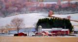 Winter on the farm, Copake 17 x 31.5