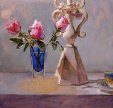 on the easel...Roses, 20 x 20