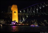 Sydney Harbour Bridge and Vivid light show