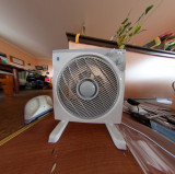Electric fan  defished (corrected curveature)