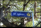 St James underground Railway Station entrance