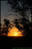 Peak hill - sunset at the top at days end
