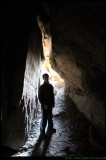 Bushrangers cave - inside with Joe