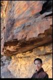 Joe shows me the cliffs
