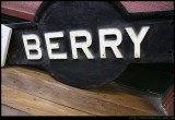 Berry - old railway station sign