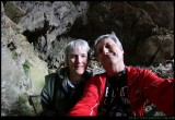 Selfie - barry and Sue in the Devils Coach house at Jenolan Caves