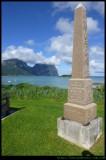 Obelisk overlooking the Lagoon