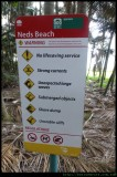 Do's and don'ts at Neds Beach