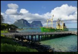 Lord Howe Island - Jetty with the Island trader ship