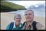 Selfie - barry and Sue on North beach, LHI