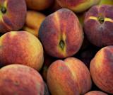 Peaches on display
