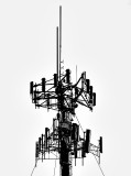 Portrait of a cellphone tower