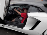 Boy in 2013 Lamborghini Aventador LP700-4 Coupe - Concorso Ferrari & Friends (other Italian Cars)