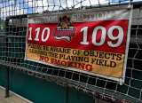 Sign at a baseball stadium.