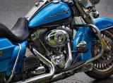 Harley-Davidson Road King - B&W version below.
