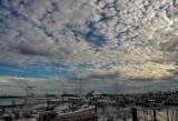 Clouds over marina
