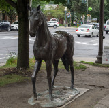 Horse sculptures of Saratoga Springs