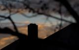 Chimney at dusk