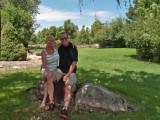 Jeani and Del visit
