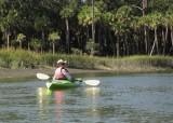 Carol does Hunting Island by Kayak