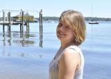 Jill at the Elk River