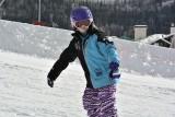 Jordan taking Snowboard Lessons