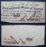 Confederate States of America Bond Interest Coupons