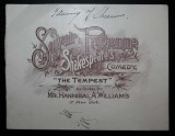 1890 Souvenir Programme of Shakespeare's Comedy The Tempest