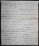 1796 Letter from Captain William Cook
