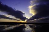 Zonsondergang op het Wad - Sunset at the Waddensea