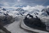 Gornergrat glacier from Monte Rosa