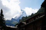 Matterhorn peak seen from Zermatt