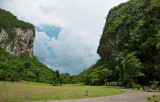 Limestone cliffs at Cueva de Portales