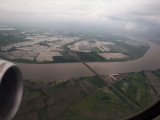 Flooded fields outside Guayaquil