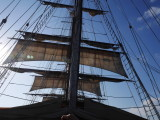 First sails go up