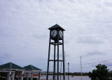Town clock near salt pond