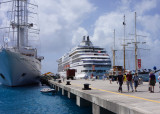 Windstar beside our boat